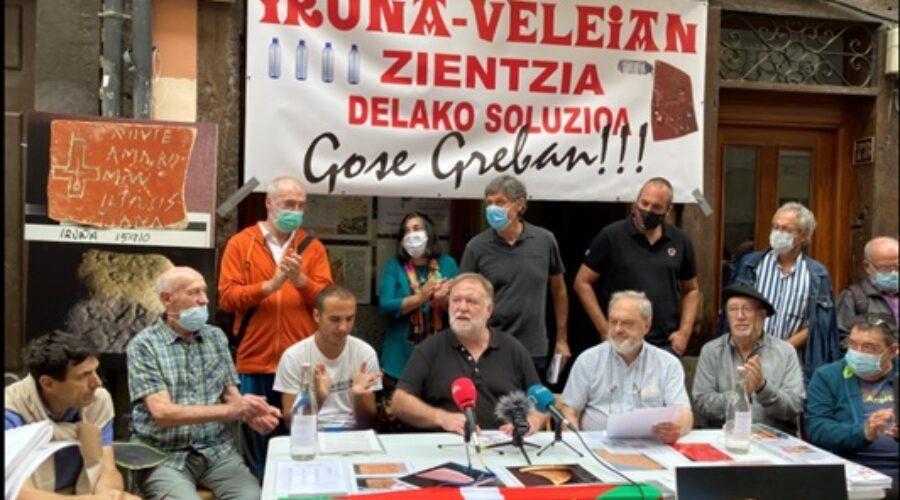 """Gaur eguerdian hasi da Gasteizen """"Iruña-Veleia argitzearen aldeko gose grebalariok"""" taldearen gose-greba"""