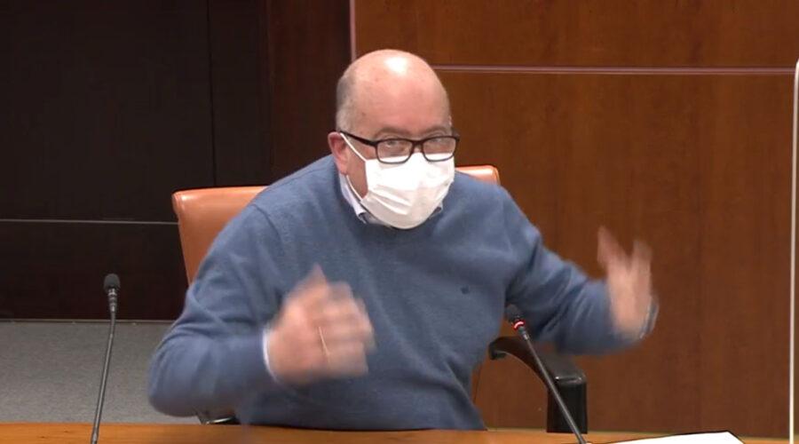Comparecencia de Carmelo Barrio (PP) en la Comisión del Parlamento Vasco para explicar la opinión del PP en relación al tema de Iruña-Veleia. 6 minutos. 10/02/2021.