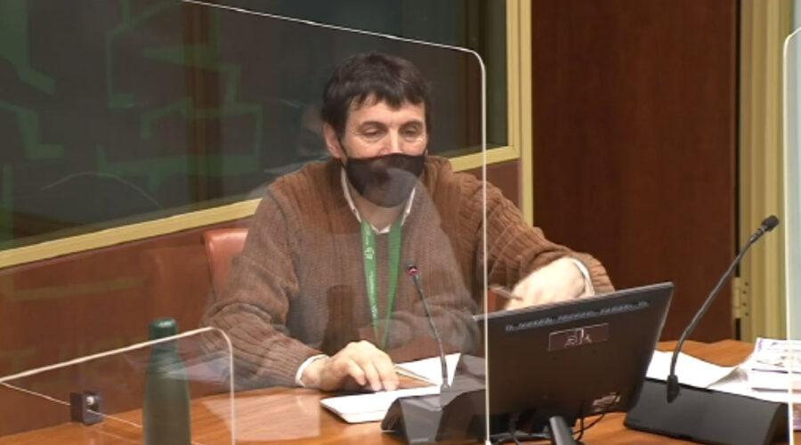 Primera comparecencia de Patxi Alaña Arrinda en la Comisión del Parlamento Vasco para explicar el tema de Iruña-Veleia. 6 minutos. 10/02/2021.